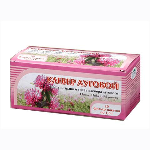 Клевер луговой, цветы и трава, 20 фильтр пакетов