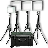 PLK-400 Репортерский Комплект из 4 x LED светильников дневного света, фото 1