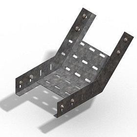 Короба перфорированые угловые для поворота вверх на 45гр. КП (45°) в комплект входят метизы