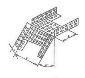 Короба перфорированые угловые для поворота вниз на 45гр. КС (45°) в комплект входят метизы