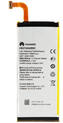 Заводской аккумулятор для Huawei P6 (HB3742A0EBC, 2000 mah)