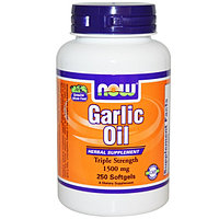 Чесночное масло  (Garlic oil) 1500 мг. 250 капсул., фото 1