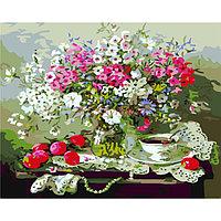 """Картина по номерам """"Натюрморт с полевыми цветами"""" под заказ 3 дня"""