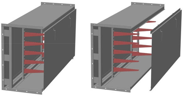 Короб ККБ-П-0,65*0,4-3 длина 3 м