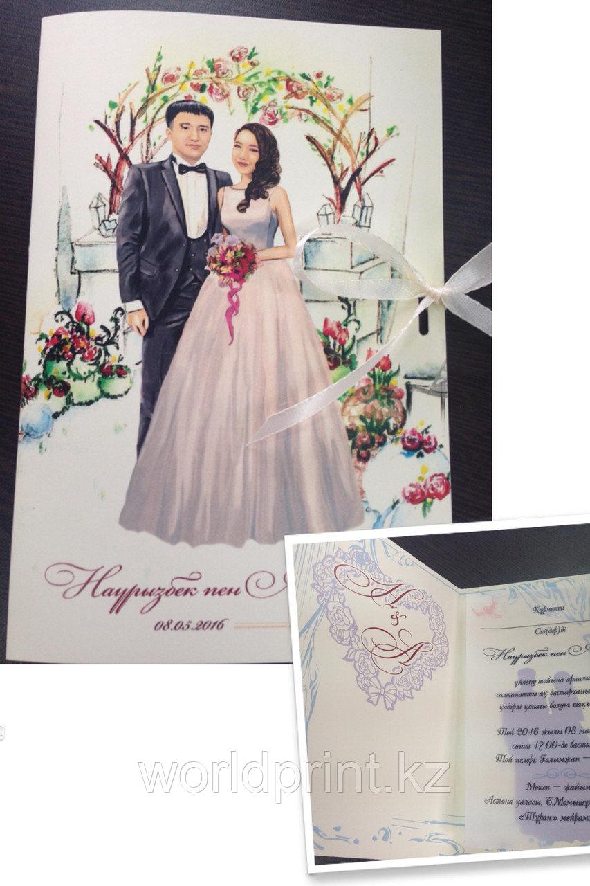 Свадебные пригласительные из VIP бумаги