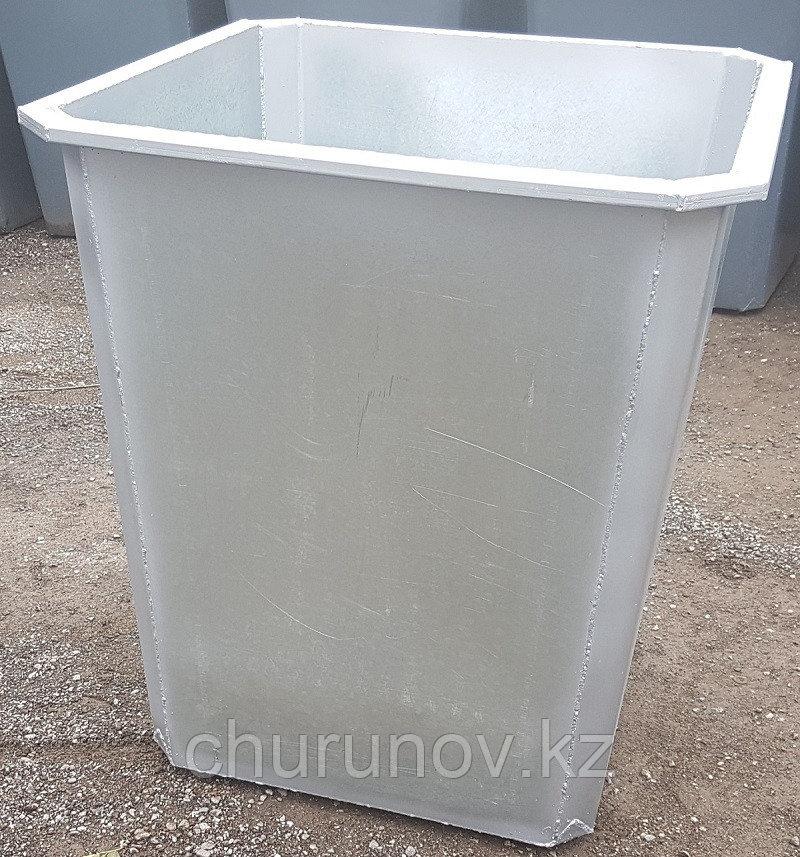 Оцинкованный мусорный контейнер 0,75 куб. (НДС 12% в т.ч.)