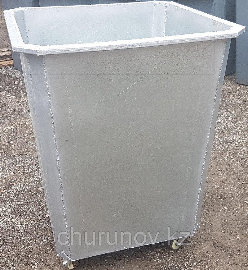 Оцинкованный мусорный контейнер 0,75 куб. с колесами (НДС 12% в т.ч.)