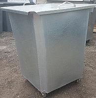 Оцинкованный нержавеющий мусорный контейнер 0,75 куб (с крышкой на колесах) НДС 12% в т.ч.