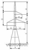 Анкерно-угловые опоры напряжением 110 кВ типа У110