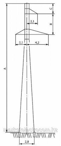 Промежуточные опоры напряжением 110 кВ типа П110