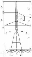 Анкерно-угловые опоры напряжением 220 кВ типа У220