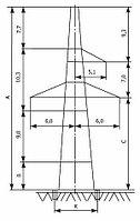 Анкерно-угловые опоры напряжением 330 кВ типа У330