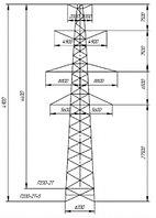 Промежуточные опоры напряжением 330 кВ типа П330