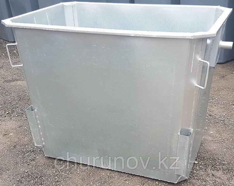 Мусорный контейнер оцинкованный 1,1 куб. без крышки без колес (НДС 12% в т.ч.)