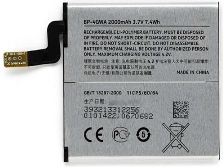 Заводской аккумулятор для Nokia Lumia 625 (BP-4GWA, 2000 mAh)