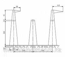 Анкерно-угловые опоры напряжением 750 кВ типа У750