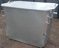Оцинкованный мусорный контейнер 1,1 куб. с крышкой (НДС 12% в т.ч.)