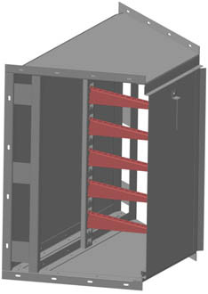 Короб ККБ-УГВ 0,65*0,4 отв под полок 9 до К1162
