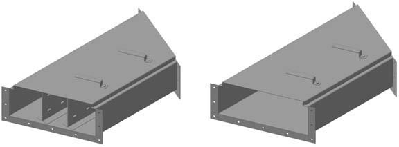 Короб ККБ-3УГП-0,2/0,5ц трехканальный