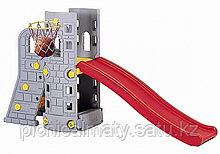 Детская горка Башня с баскетбольным кольцом Edu-Play SL-6102