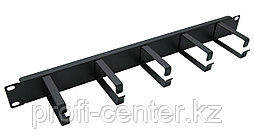 EPNEW Органайзер для кабеля 1U (с крюками металл)