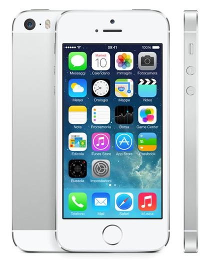 Смартфон Apple iPhone 5S 16Gb (серебристый) .Алматы