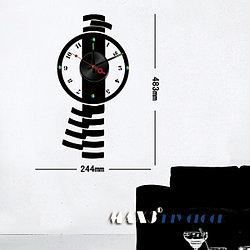 Часы-стикеры 24х48 см