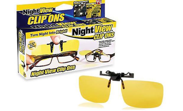 Антибликовые очки для вождения Night View Clip Ons