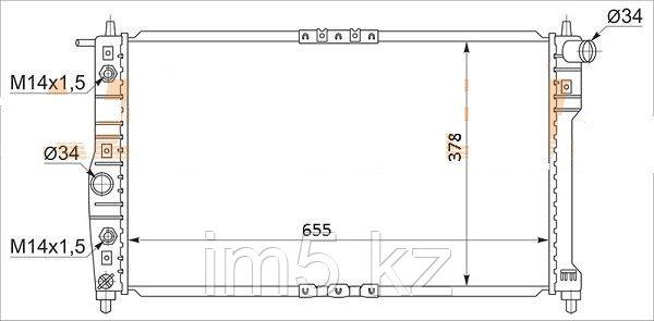 Радиатор  DAEWOO LEGANZA 97-02