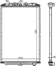 Радиатор  DAF XF105 /GINAF X-SERIES 05-