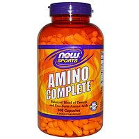 Комплекс аминокислот. Now Foods, Sports, Amino Complete, 360 капсул