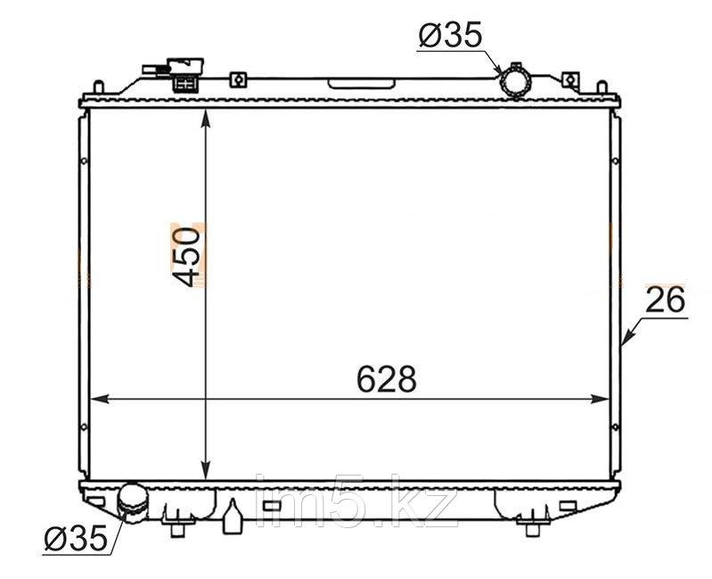 Радиатор  FORD RANGER USA 98-01
