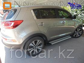 Пороги алюминиевые (Integral) Kia Sportage (2010-2014), комплект 2шт., фото 2