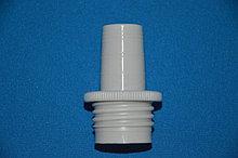 Адаптер полипропиленовый для флакон-диспенсеров, цифровых бюреток, внешняя резьба GL 32, для бутыля шлиф 24/29 (VITLAB)