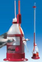 Бюретка Шиллинга автоматическая с полосой Шеллбаха, класс В, V-50мл, погр.- ±0,1мл, ц.д.-0,1мл, Vбутыля-1л (VITLAB)