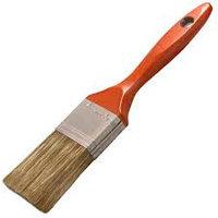 """Кисть плоская STAYER """"LASUR - LUX"""", деревянная ручка, смешанная щетина, 100мм"""