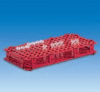 Штатив для микроцентрифужных пробирок, пластиковый (128 гнезд, d пробирок-11мм), красный (PP) (VITLAB)