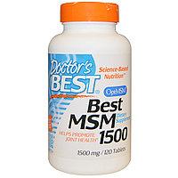 МСМ( MSM) 1500 (метилсульфонилметан), 1500 мг, 120 таблеток Doctor's Best,, фото 1