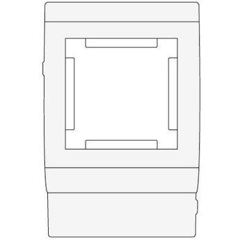 PDA-45N 80 Рамка-суппорт под 2 модуля 45x45 мм