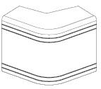 NEA 100x60 Угол внешний неизменяемый (90°)