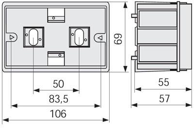 SAN-3 EXP Коробка под роз. 83,5 мм в короб TA-GN