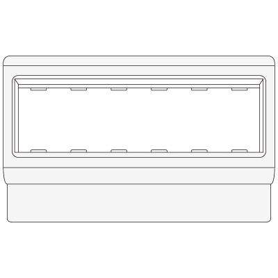 "PDA-3BN 80 Рамка-суппорт под 6 модулей ""BRAVA"""