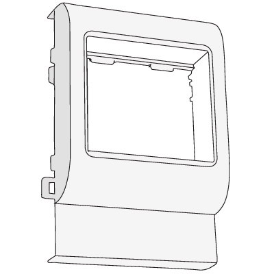 "PDA-BN 80 Рамка-суппорт под 2 модуля ""BRAVA"""