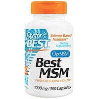 МСМ (MSM), 1000 мг, 360 капсул Doctor's Best. БЕСПЛАТНАЯ ДОСТАВКА, фото 1