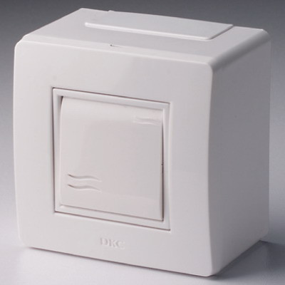 Коробка в сборе с выключателем, белая