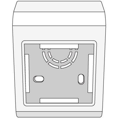 """PDB Коробка монтажная под 2 модуля """"BRAVA"""""""