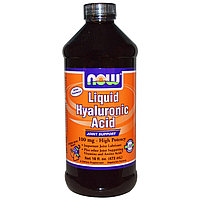 Жидкая гиалуроновая кислота, ягодный вкус, 100 мг, 16 жидких унций (473 мл)  Now Foods., фото 1