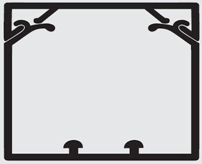 DKC 01790 ТА-GN 100x80 Короб с крышкой с направляющими для установки разделителей