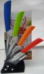 Керамические ножи на подставке разноцветные 4шт