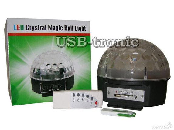 Сфера светодиодная для цветомузыки Crystal Magic Ball, фото 2